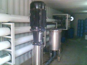 osmose inverse mobile dans un conteneur